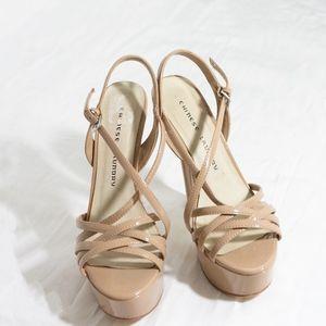 Chinese Laundry Tan Heels